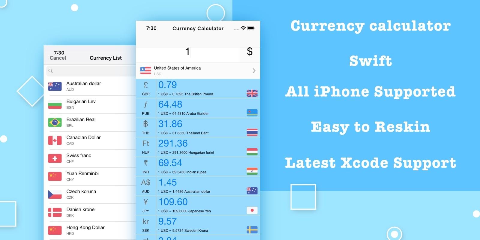 Currency Calculator - iOS Source Code