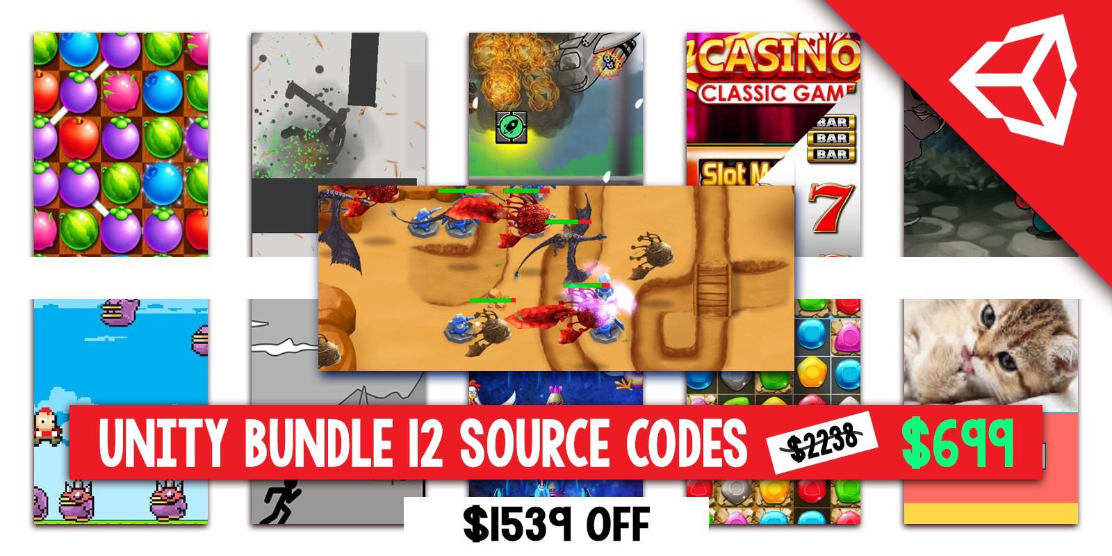 Super Bundle of 12 Premium Unity Games