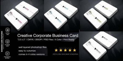 Simple Professional Business Card 4 Color