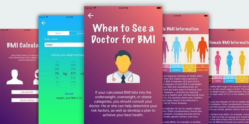 BMI Calculator - Android App Source Code