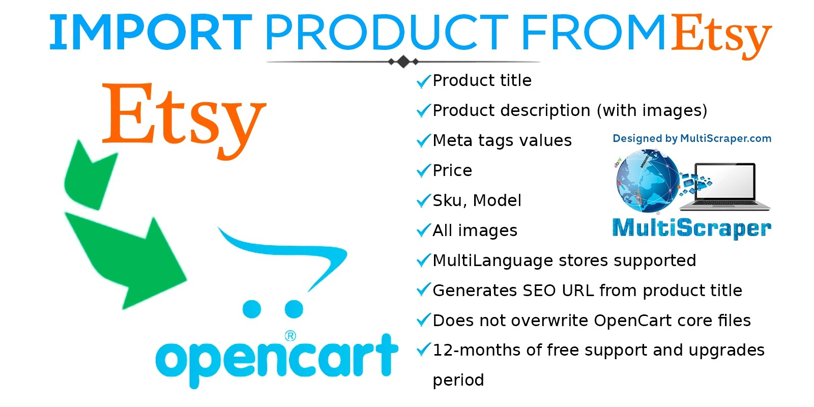 Import product From Etsy - OpenCart Extension