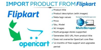 Import Product From Flipkart - OpenCart Extension