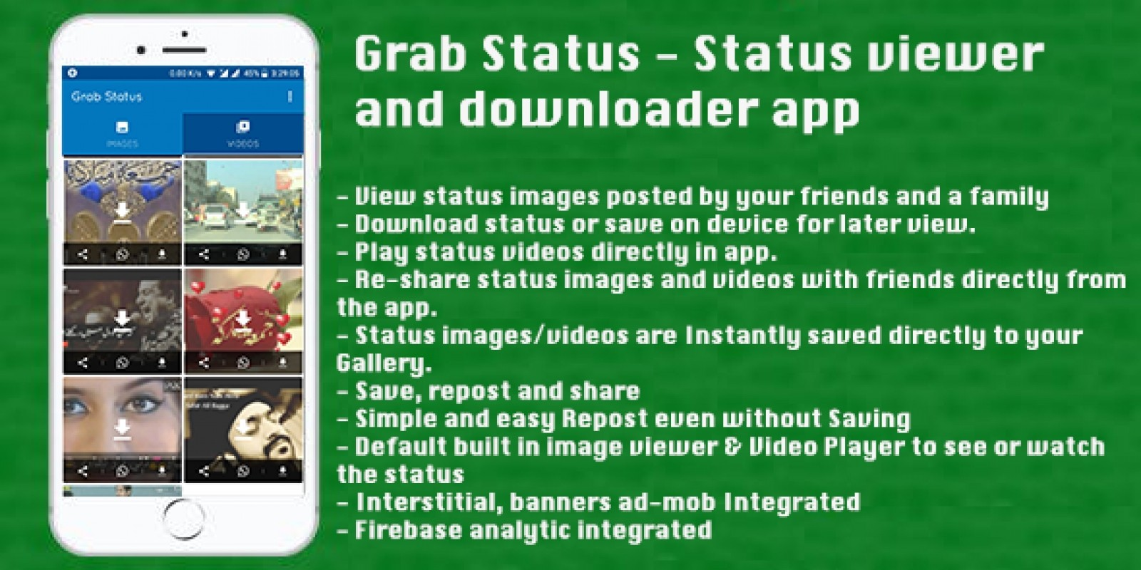 Grab Status - Android Source Code