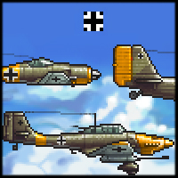 Aircraft Sprites Icons Germany World War 2