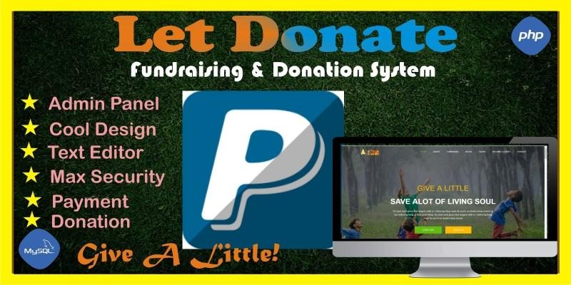 Let Donate - Fundraising Donation System Script