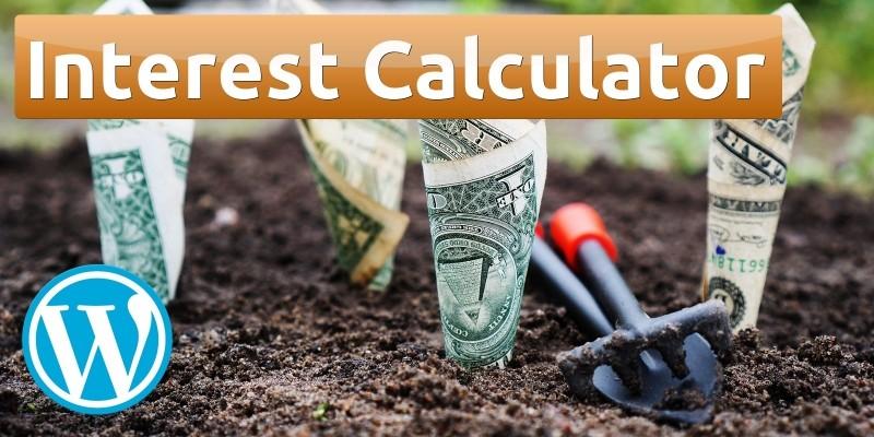Interest Calculator For WordPress