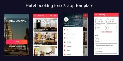 Hotel Booking Ionic 3 Theme