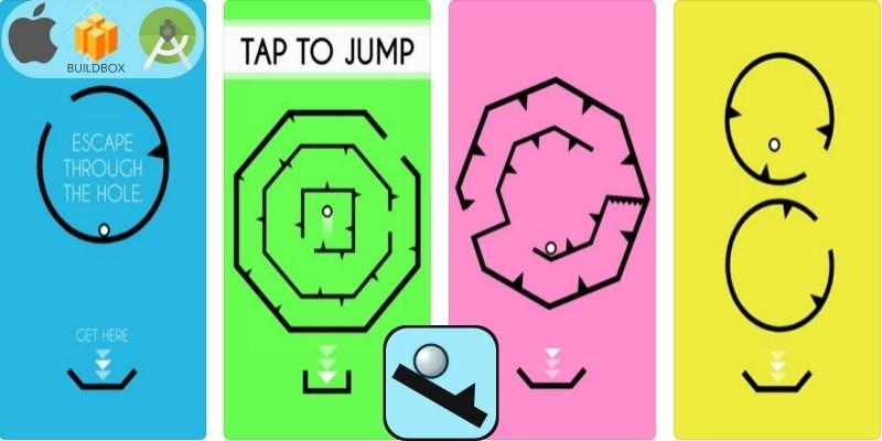 Shape Go Escape - Buildbox Game Template