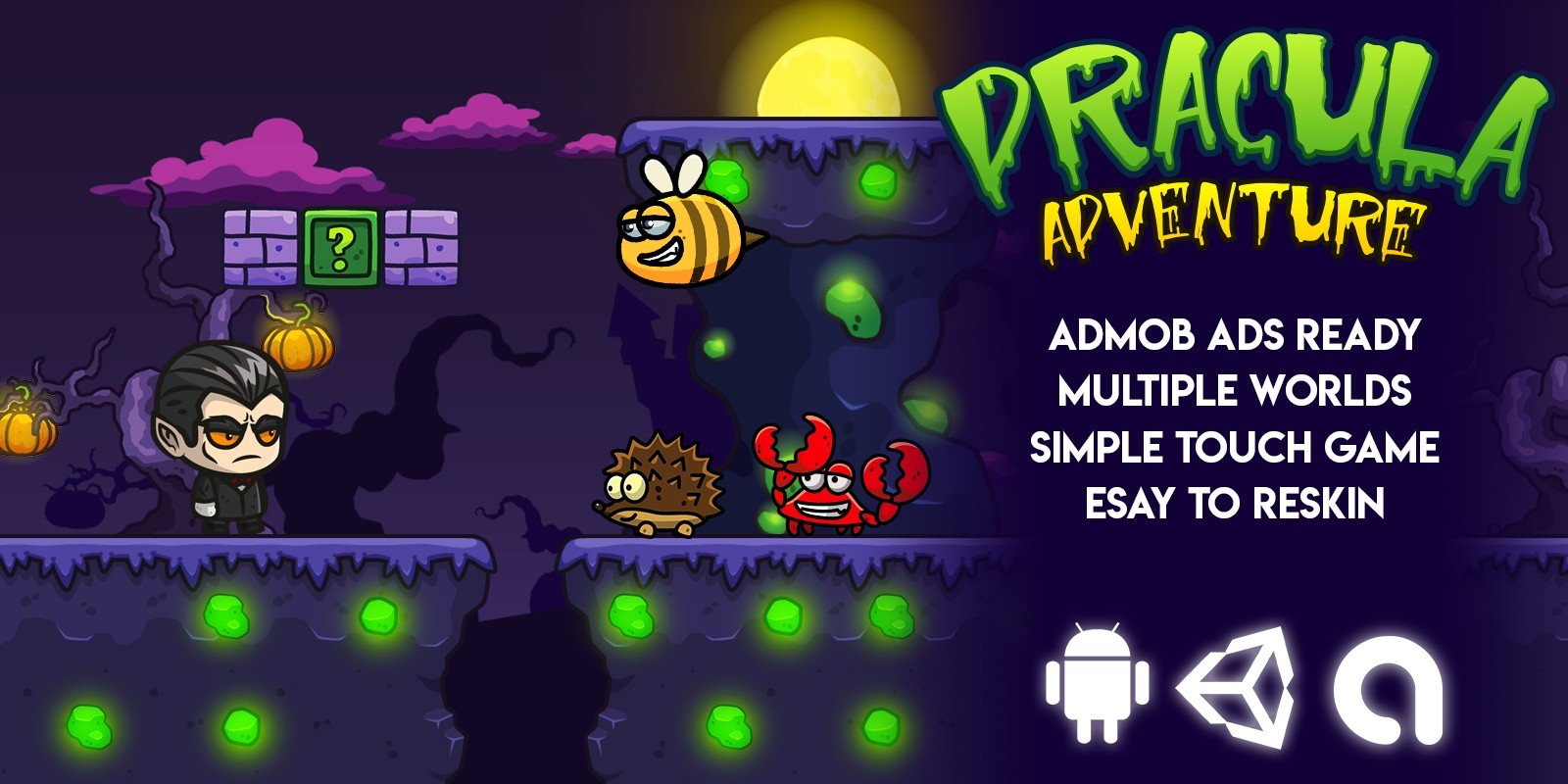 Dracula Adventure Complete Unity Game