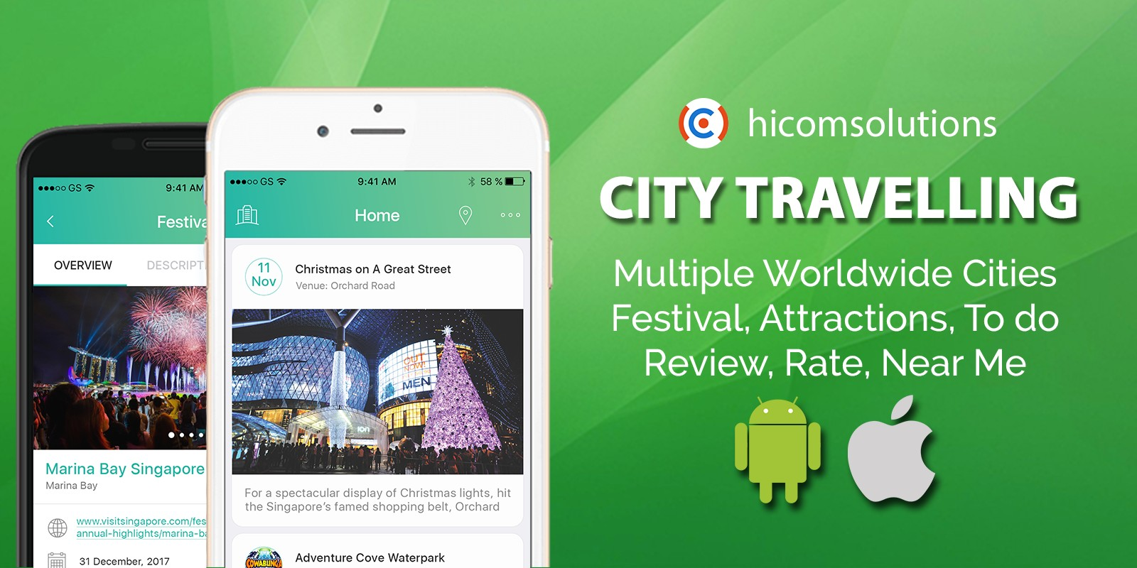 City Travelling Information Android App