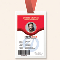 Simple Professional ID Card