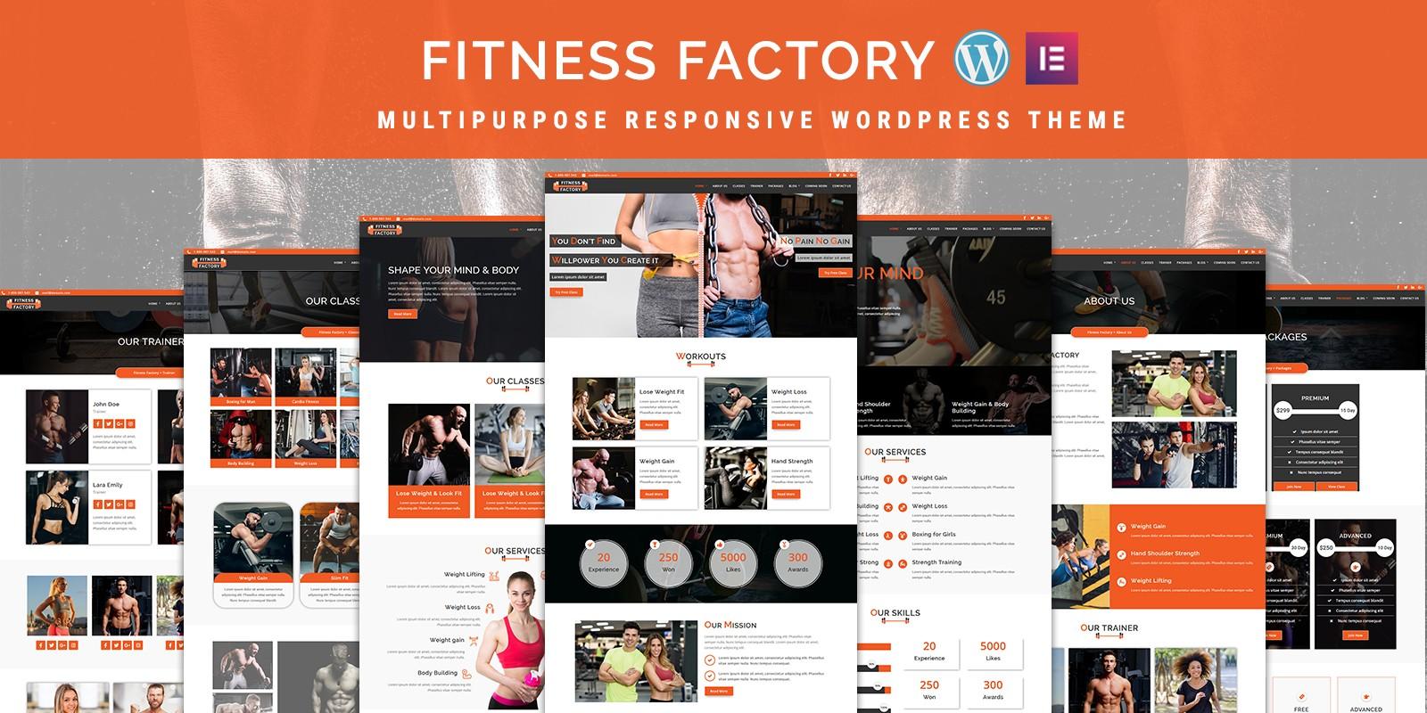 FitnessFactory - WordPress Theme