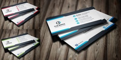 Flat Business Card 4 color ready