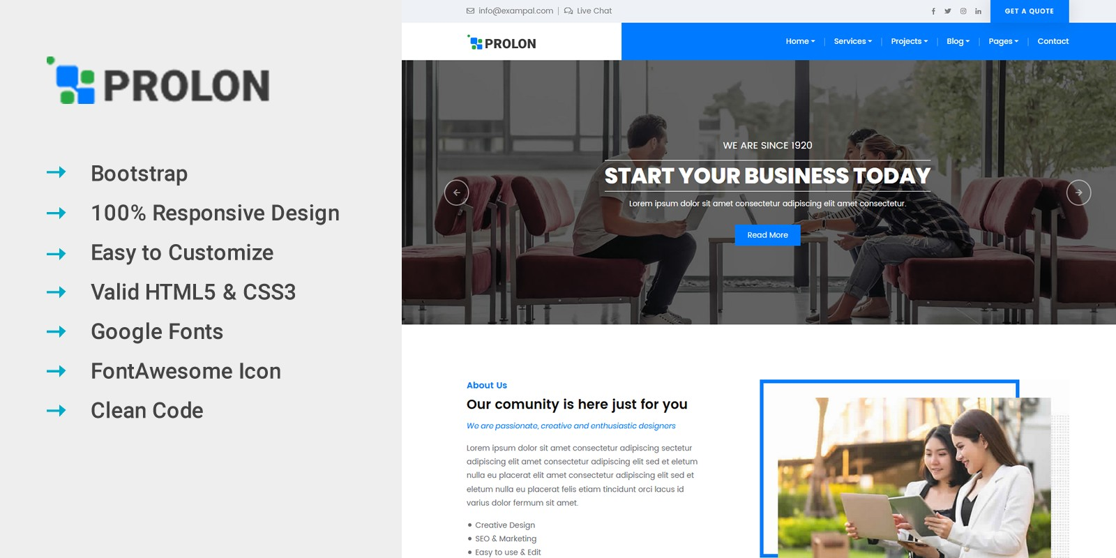 Prolon - Business HTML Template