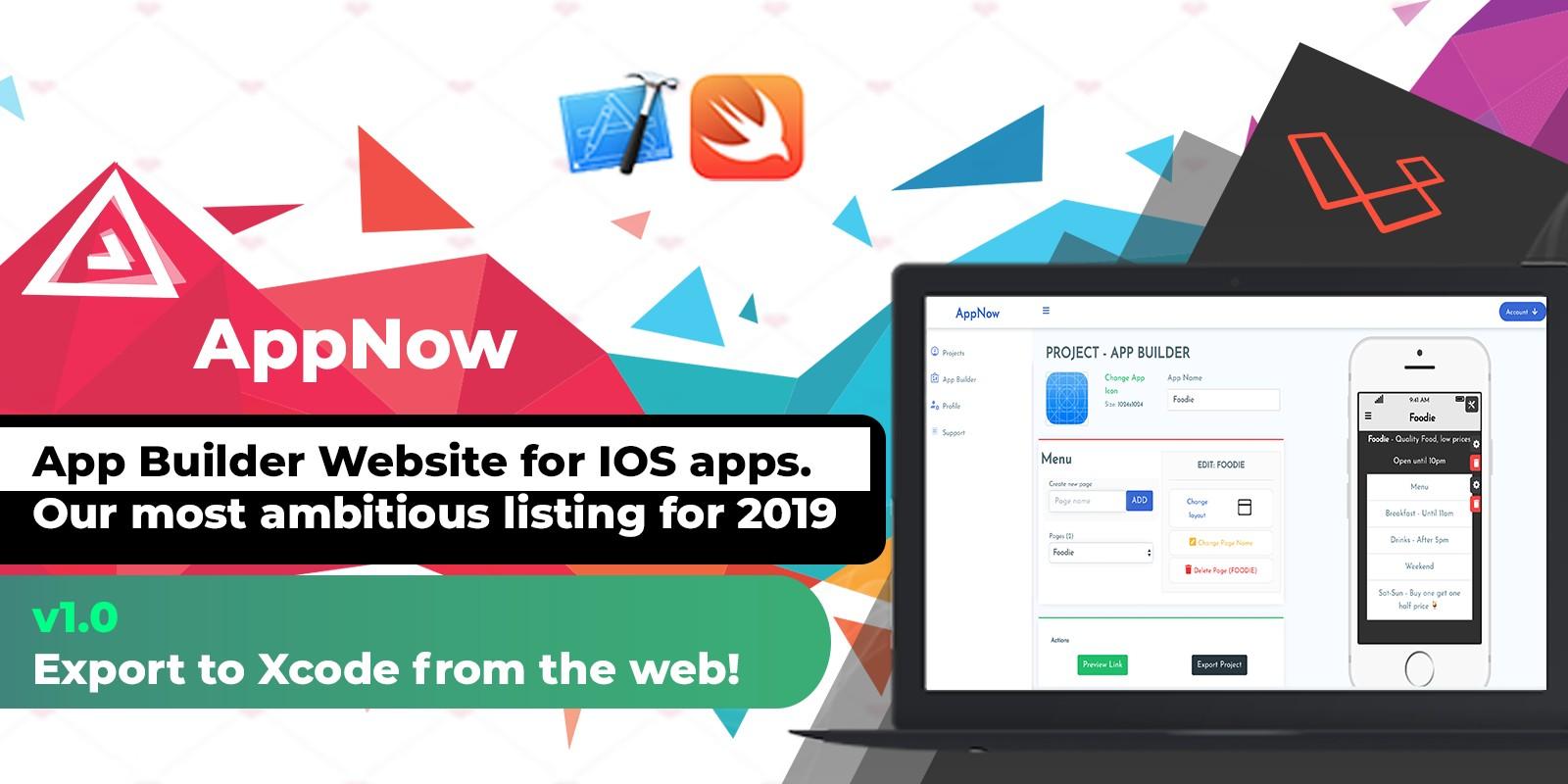 AppNow - App Builder iOS Mobile Projects Laravel