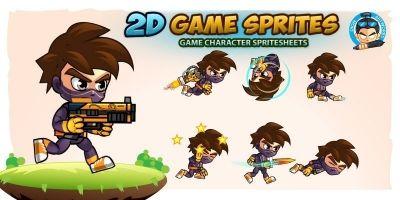Ninja Boy 2D Game Sprites