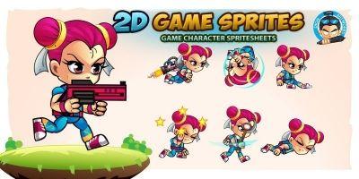 Kim 2D Game Charcter Sprites