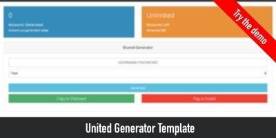United - Webbased Account Generator Script