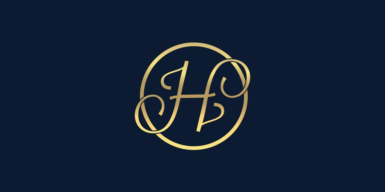 Letter H - luxury logo