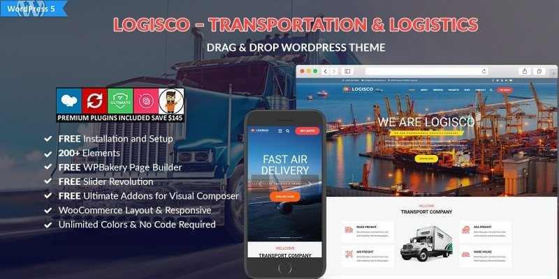 Logisco – Transportation WordPress Theme