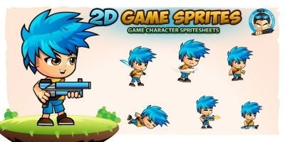 Jim 2D Game Character Sprites