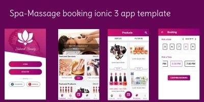 Spa Booking Ionic 3 Theme