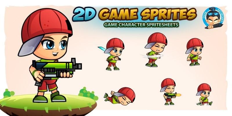 Heyboy 2D Game Sprites