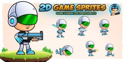 Rob0tx 2D Game Sprites
