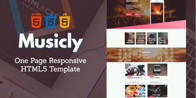 Musicly - One Page Responsive HTML5 Template