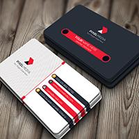 Modern Multi Color Business Card