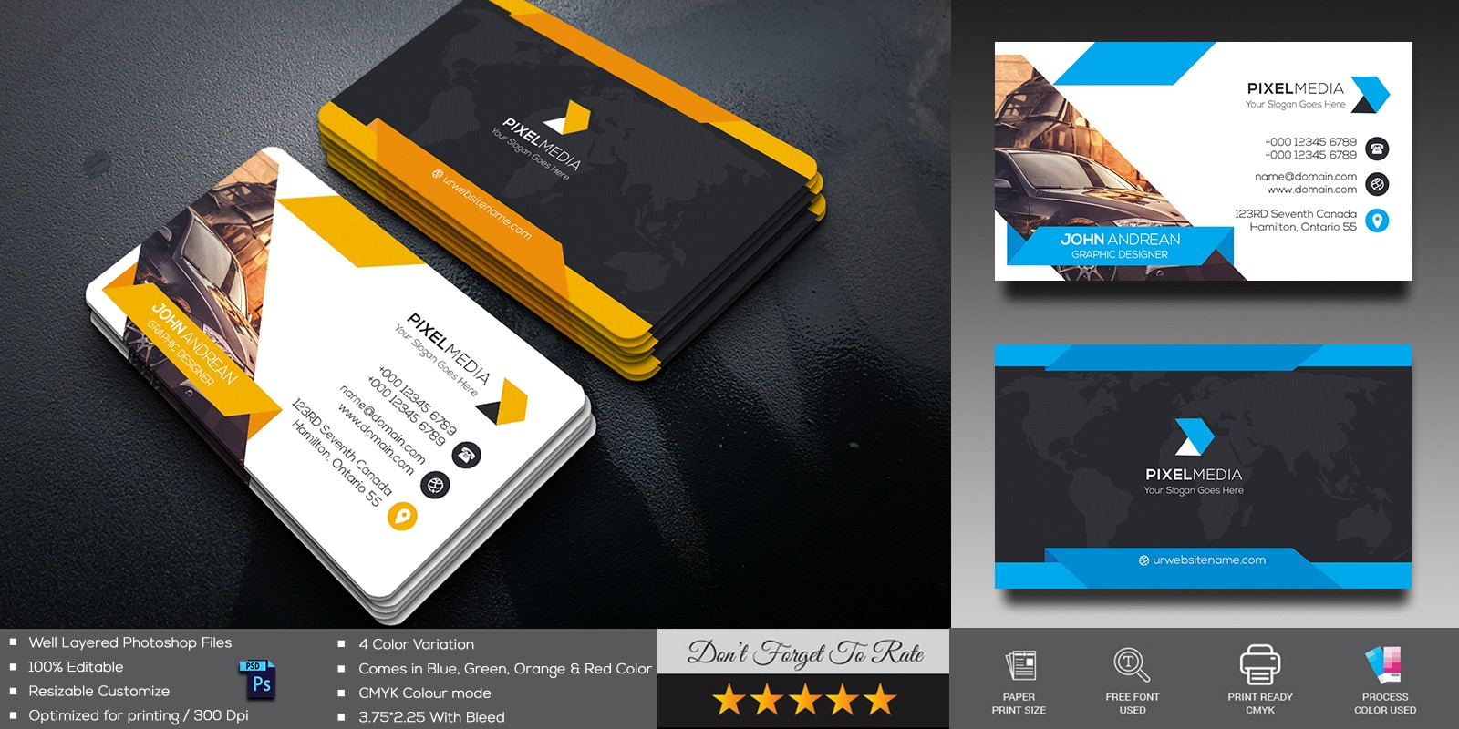 Car Line Business Card Template