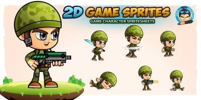 Soldier 2D Game Sprites