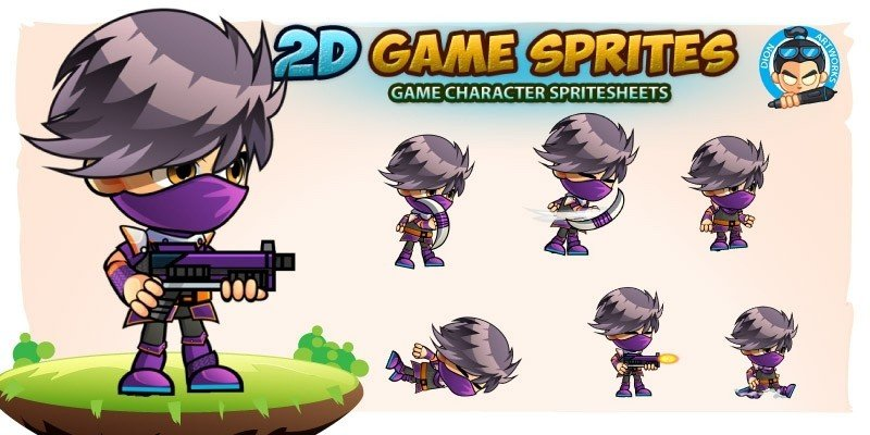 Assassin 2Game Character Sprites