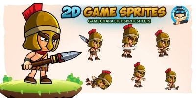 Spartan 2D Game Character Sprites