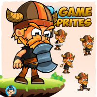 Viking 2D Game Character Sprites