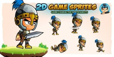 Knight 001 2D Game Character Sprites