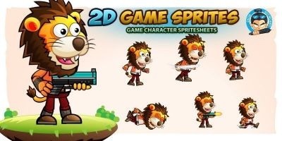 Lion Warrior 2Game Character Sprites 222