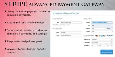 Stripe Advanced Payment Gateway Script