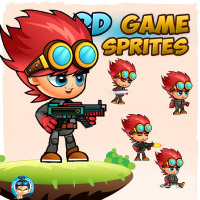 Red 2D Game Sprites