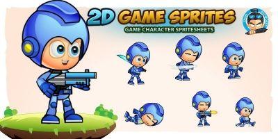 Roboy J1 2D Game Sprites