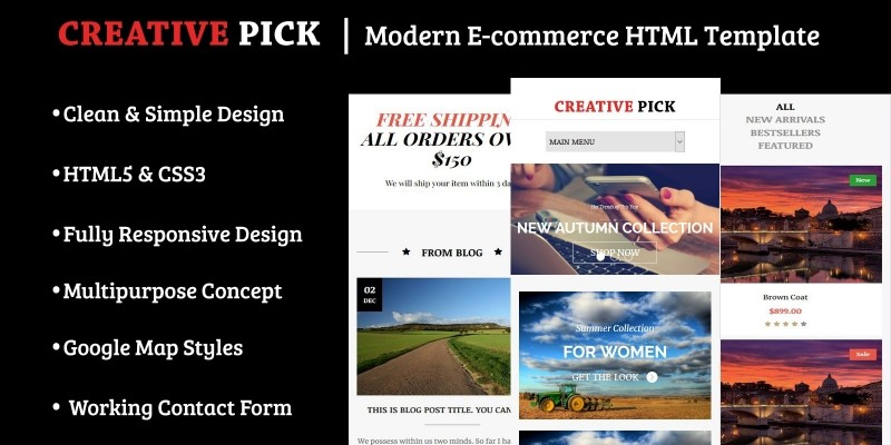Creative Pick - Modern E-commerce HTML Template