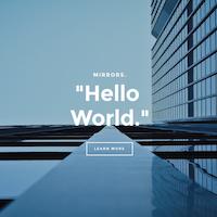 Mirrors - An Elegent Portfolio Website