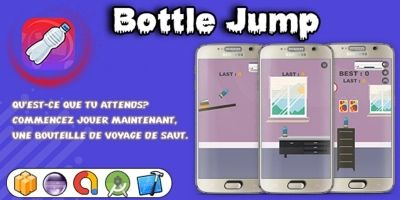 Bottle Jump - Buildbox Game Template