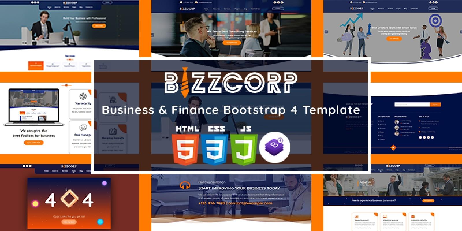 Bizzcorp - Business Finance HTML5 Template