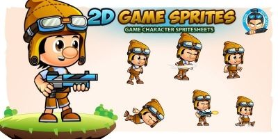 Paul 2D Game Character Sprites