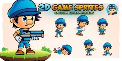 Gerald 2D Game Character Sprites