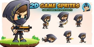 Black Assassin Game Sprites