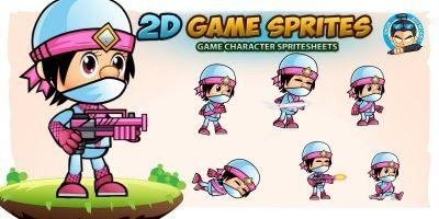 NinjaFlor 2D Game Sprites