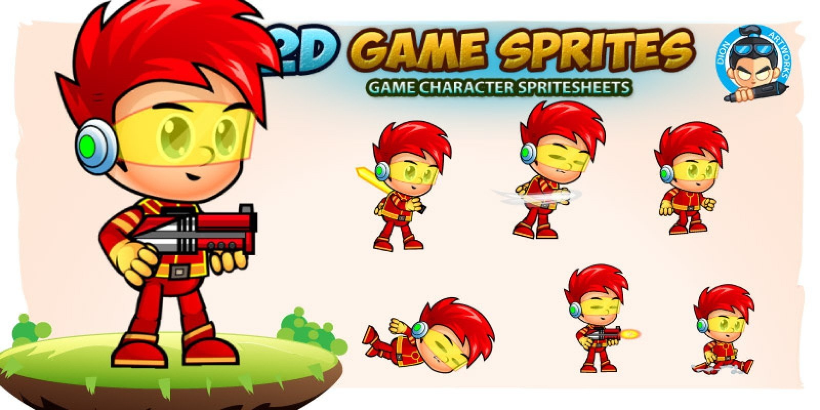 Jacob Game Character Sprites