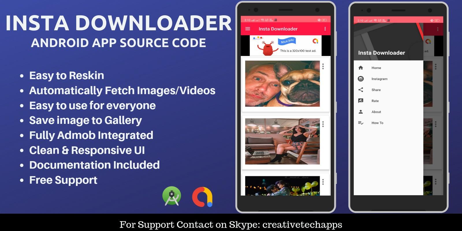 Insta Downloader - Android App Source Code